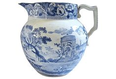 Early English Transferware Jug, 1820 on OneKingsLane.com