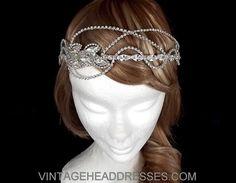 Vintage Rhinestone Strands Bridal Headpiece  by VintageHeaddresses, £270.00