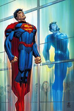 Superman art by John Romita jr. and Janson White, 2016.