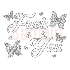 Sweary Coloring Page Fck You 1 Swearing By SueSwears