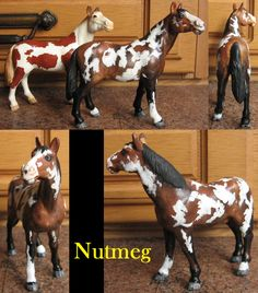 My repaint of the old pinto schleich model, now a... pinto!!!
