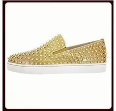 Gold. Louies. Studded. WANT