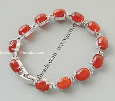 red agate bracelet http://www.gets.cn/product/Agate-Bracelet--red-agate-cabochon-with-brass-setting--10x8x7mm_p262283.html