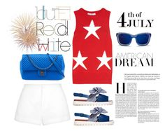 Color of Fashion: The Red, White, and Blue! by harperleo on Polyvore featuring polyvore fashion style MaxMara Marni Chanel 3.1 Phillip Lim clothing redwhiteandblue july4th coloroffashion