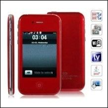 Cod.C001  Cellulare i9 5GS Quad Band Dual Cards with Wifi Analog TV Java Touch Screen Cell Phone(Rosso) - 68,20€ - SuQui Shopping by Siwmo