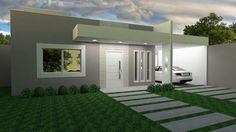 Exterior house architecture front porches 22 ideas for 2019 Bungalow House Design, House Front Design, Modern House Design, D House, Facade House, Modern Contemporary Homes, House Entrance, Modern Exterior, Garage Exterior