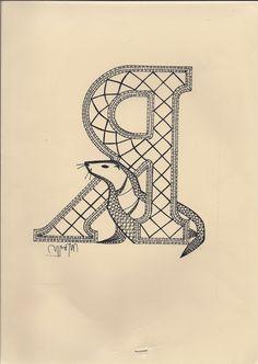 Album sous forme d'archive Alphabet, Bobbin Lace Patterns, Lace Heart, Letter Patterns, Lace Jewelry, Lace Making, Monogram Letters, Lace Detail, Butterfly