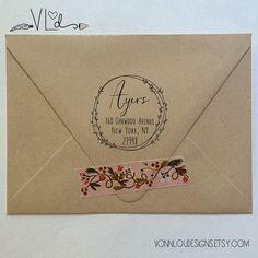 D210 Self Inking Stamp Personalized Stamp Housewarming Gift Return Address Stamp Custom Address Stamp Wedding Stamp