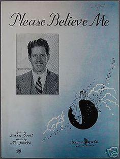 Sheet Music Rudy Vallee 1935 Lyrics by Larry Yoell