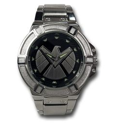 Images of SHIELD Symbol Silver Watch with Metal Band