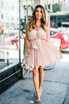 Ariana Lauren of #Fashionborn wearing dress: Chicwish, sandals: Schutz, bag: Chloe