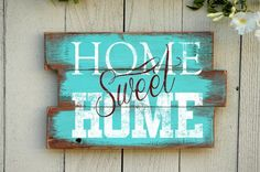 awesome Rustic Home Quote Sign: Home Sweet Home in Reclaimed Wood Pallet