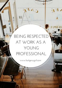 Talking about how to be respected at work as a young professional because regardless of our age, we all deserve to be respected. Career Success, Career Change, Career Advice, Career Goals, Interview Advice, Career Ideas, Interview Questions, Life Goals, Young Professional
