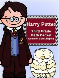 This packet covers almost every 3rd grade Common Core math standard!  It is separated by book chapter and each activity aligns with what is happening in Harry Potter and the Sorcerer's Stone.  I used it with my class while we read the book, but it is versatile enough that you could use it without the book as well.