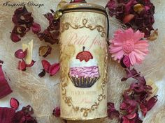 Space Jar, Sweet Candy Space Jar, Canister, Hand Painted Space Jar, Vintage Candy Jar, Kitchen Storage, Shabby Chic Canister, Retro Space Ja