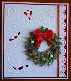 Handcrafted by Helen: Two Wreath Cards