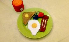 I love breakfast Egg bacon toast fruit and by HeartFeltPlayFood