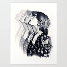 How To Disappear Art Print by KatePowellArt - $17.00
