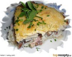 Květákový nákyp s uzeným – dělená strava (zvířátka) Spanakopita, Lasagna, Quiche, Breakfast, Ethnic Recipes, Fitness, Diet, Morning Coffee, Quiches