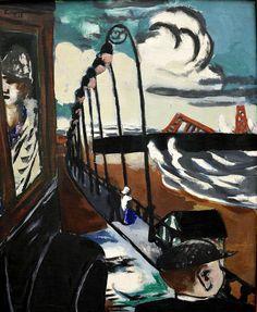 """Max Beckmann """"Standpromenade in Scheveningen"""", 1928"""
