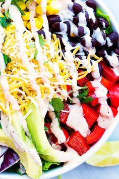 Southwest Chicken Salad | Creme de la Crumb