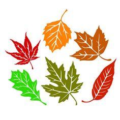 Autumn Trees, Autumn Leaves, Autumn Fall, Fall Leaf Template, Leaf Silhouette, Silhouette Cameo, Leaf Stencil, Felt Leaves, Leaf Logo