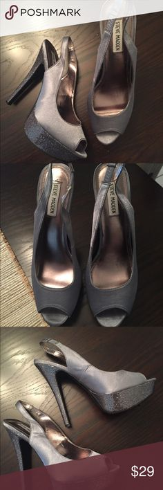 Steve Madden P-Ever Slingback Pump Shoes 10 Steve Madden Slingback Sparkle Heel Pump.   In great condition. Used once. Clean. Smoke/pet free home. Steve Madden Shoes Platforms