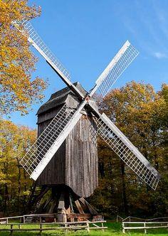 Windmill (Freilichtmuseum) in Kommern, Nordrhein-Westfalen, Germany