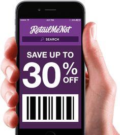 Hand showing RetailMeNot Mobile App