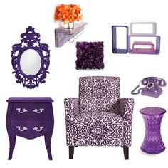 Purple Bedroom Inspiration.. super cute for Ryley!