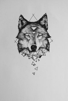 Discover thousands of images about nice Geometric Tattoo - geometric wolf tattoos: Yandex. Wolf Tattoo Design, Wolf Design, Skull Tattoo Design, Tattoo Designs, Animal Design, Wolf Tattoos, Nature Tattoos, Body Art Tattoos, Sleeve Tattoos