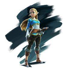 Official artwork of Zelda! #BreathOfTheWild