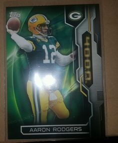 2015 Topps 4000 Yard Club Aaron Rodgers Green Bay Packers in Sports Mem, Cards & Fan Shop, Cards, Football | eBay