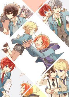 Chica Anime Manga, Kawaii Anime, Cute Anime Boy, Anime Guys, Manga Art, Anime Art, Cute Anime Character, Ensemble Stars, Ship Art