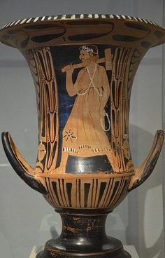 Etruscan red-figured krater with Charun, the Etruscan death demon, from Vulci (Italy), around 300 BCE. Altes Museum, Berlin