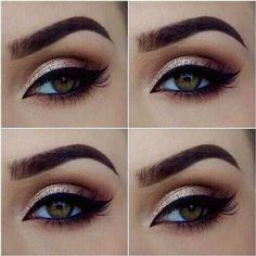 Maquillage Yeux  beautiful colored eyes cute eyebrows eyeliner eyes eyeshadow gorgeous green eyes hazel eyes heart it love it lovely makeup mascara pretty shimmer stylish we heart it winged eyeliner