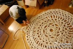 One day, I wanna try something like this. (No pattern, just an idea.) Take a doily pattern and use cotton rope perhaps?