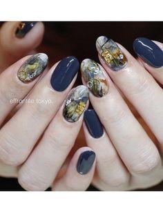 Pin by tsuruta chikage on nail Nail Polish Designs, Cool Nail Designs, Natural Nail Art, Kawaii Nails, Nails First, Feet Nails, Japanese Nails, Nail Patterns, Simple Nails