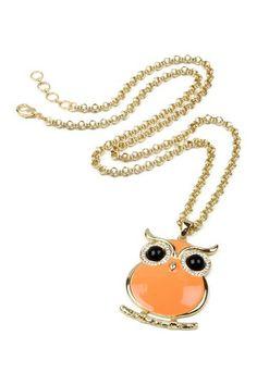 I love this owl pendant!