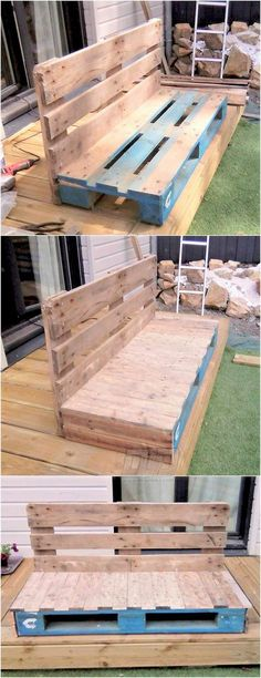 Home-built pallet office funiture ideas and how to continue to make your own office funiture from pallets, use recycled pallet wood to develop future masterpiece! Pallet Ideas Easy, Diy Pallet Projects, Woodworking Projects, Diy Ideas, Pallet Patio Furniture, Pallet Chairs, Pallet Cushions, Wooden Pallets, Pallet Wood