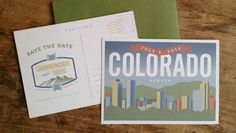 Denver, Colorado Postcard Save the Date - Anthologie Press Custom Work
