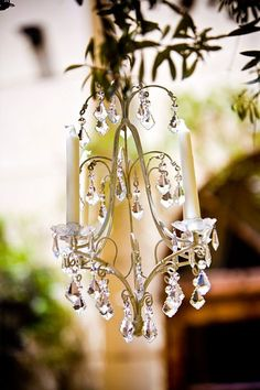 Pretty little chandelier.