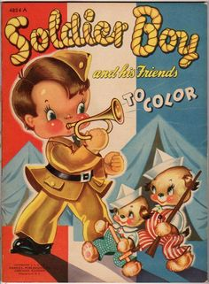 1942 Soldier Boy His Friends Coloring Book Merrill