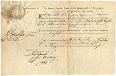 Benjamin Franklin-Signed Document Linking George Washington, a Declaration Signer, and Prominent Jewish Merchants  $35,000
