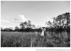 A black and white landscape from classic wedding photographs Casa Mia Pretoria.