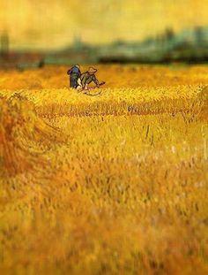 Arles: Visión desde los campos de trigo de 1888. Van Gogh VAN GOGH EN MINIATURA (TILT-SHIFT). REHACIENDO ARTE.
