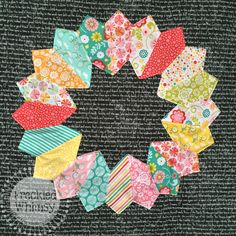 One on back of Robyn's quilt using Aviary 2 fabric. Freckled Whimsy Dresden Tutorial Baby Quilt-19