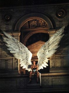 Marcus Schenkenberg as Icarus at McQueen's first Givenchy couture show for spring/summer 1997