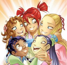 All the girls from W.i.t.c.h., Disney