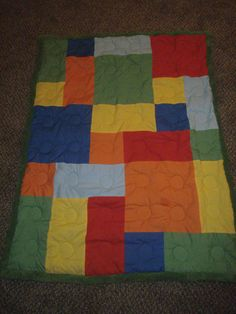 LEGO quilt by #My Honey Bunch